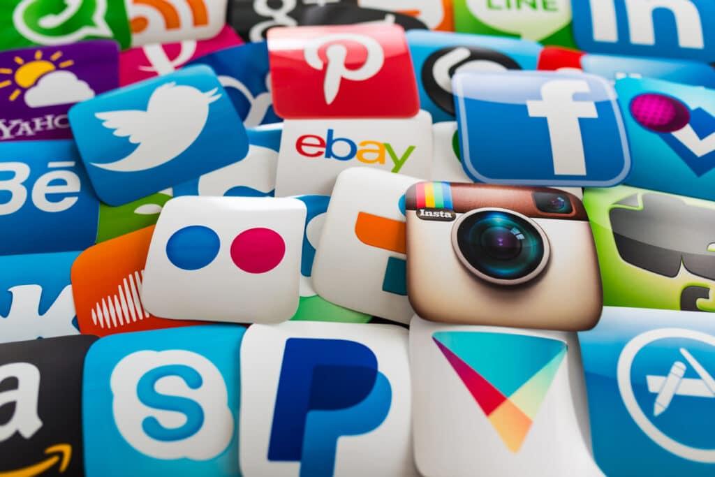 ilustração de mídias sociais