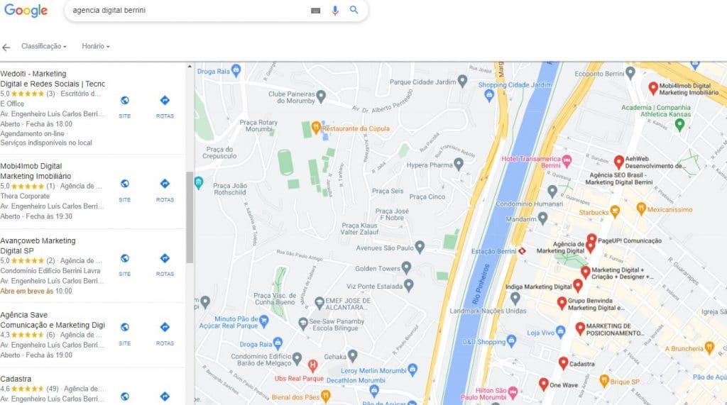 My Business busca localização