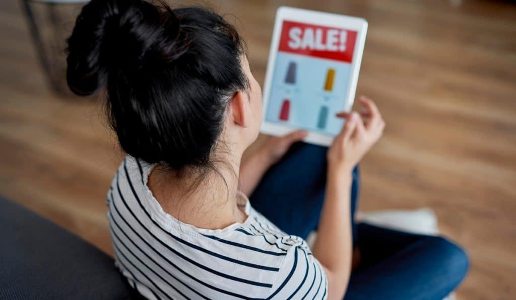 online shopping promoção