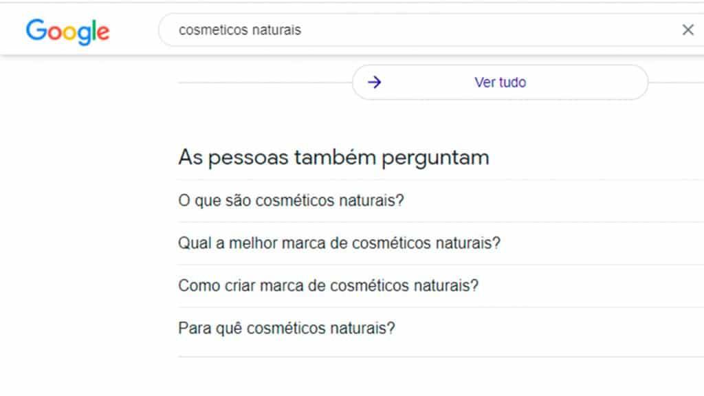 Curso de SEO - Funcionalidades do Google: As pessoas também perguntam