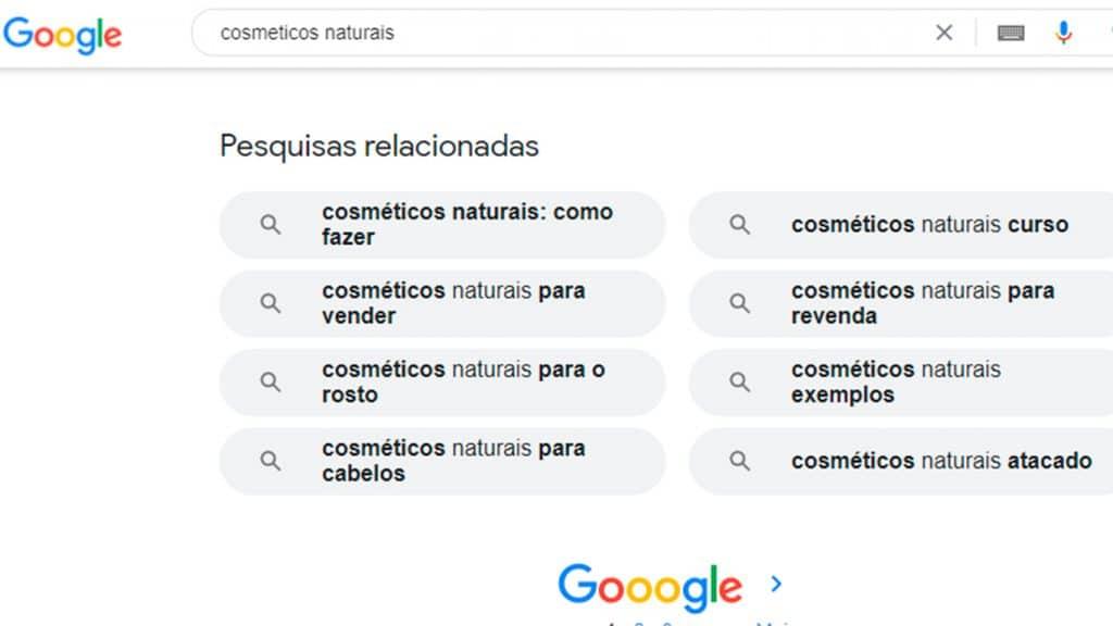 Curso de SEO - Funcionalidades do Google: Pesquisas relacionadas
