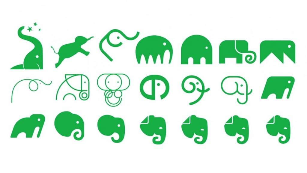 identidade visual da marca evernote